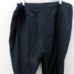 Tahari Navy Pinstripped Dress Pants 20W